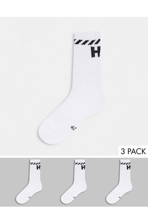 Helly Hansen 3 pack logo socks in White