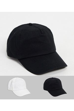 ASOS Homem Chapéus - 2 pack baseball cap in black and white save-Multi