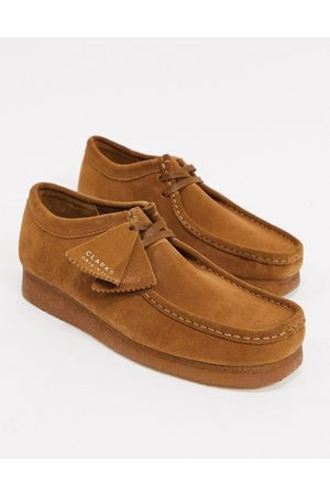 Clarks Homem Botas - Wallabee shoes in tan suede