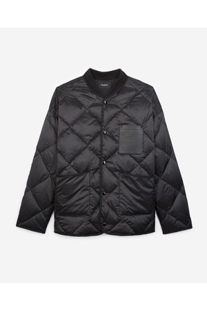 THE KOOPLES Quilted embroidered jacket w/leather pocket