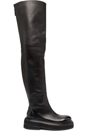 MARSÈLL Over-the-knee leather boots