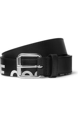 Comme des Garçons 3cm Logo-Print Leather Belt