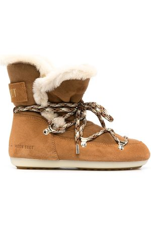 Moon Boot Shearling-lined lace-up boots