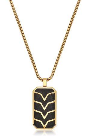 Nialaya Chevron-detail dog tag necklace
