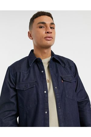 Levis Levi's Barstow western relaxed fit denim shirt in bonded denim rinse-Blue