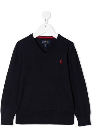 Ralph Lauren V-neck embroidered logo jumper