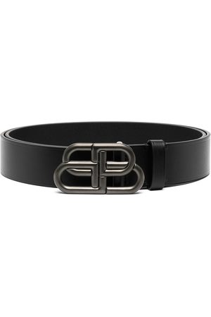Balenciaga Homem Cintos - BB buckle leather belt