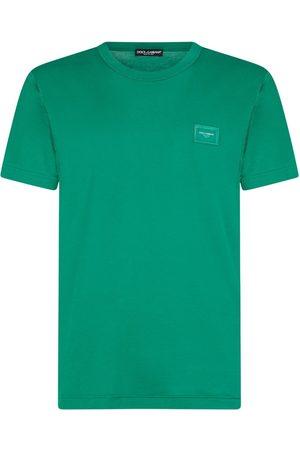 Dolce & Gabbana Homem T-shirts & Manga Curta - Logo patch T-shirt