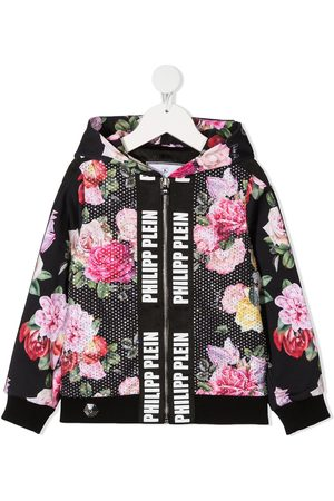 Philipp Plein Floral-print zip-up jacket