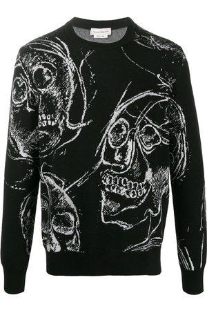 Alexander McQueen Skull-print knitted jumper