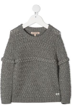 HUCKLEBONES LONDON Chunky-knit plait-detail jumper