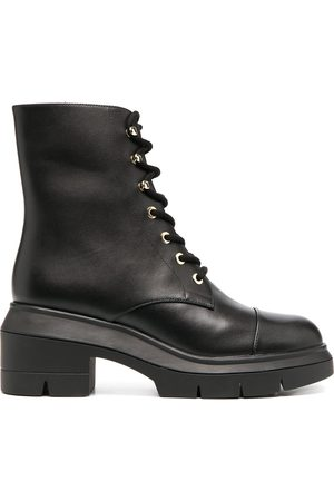 Stuart Weitzman Chunky lace-up leather boots