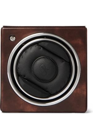 Rapport London Homem Relógios - George Cleverley Leather, Aluminium and Cedar Wood Watch Winder