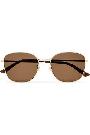 Gucci Square-Frame -Tone Sunglasses