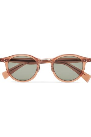 Eyevan 7285 Round-Frame Acetate and Silver-Tone Sunglasses