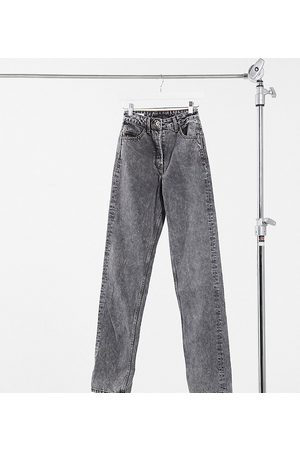 COLLUSION Tall straight leg jeans in washed black