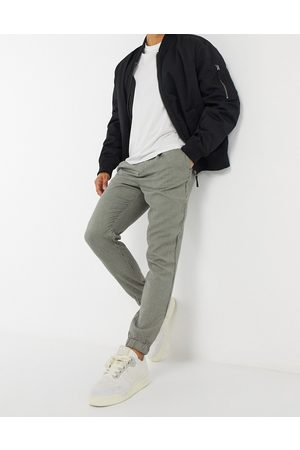 ASOS Tapered smart jogger in dogtooth-Stone