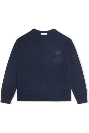 Dolce & Gabbana Logo-embroidered fine-knit jumper