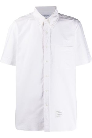 Thom Browne Homem Manga curta - Short-sleeved Oxford shirt