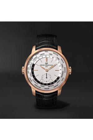 Girard Perregaux 1966 WW.TC Automatic 40mm 18-Karat Rose Gold and Alligator Watch, Ref. No. 49557-52-131-BB6C