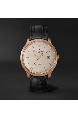 Girard Perregaux 1966 Automatic 40mm 18-Karat Rose Gold and Alligator Watch, Ref. No. 49555-52-132-BB60