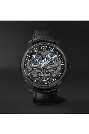 Girard Perregaux Neo Bridges Earth to Sky Automatic 45mm Titanium and Alligator Watch, Ref. No. 84000-21-632-BH6A