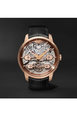 Girard Perregaux Homem Relógios - Classic Bridges Automatic Skeleton 45mm Rose Gold and Alligator Watch, Ref. No. 86000-52-001-BB6A