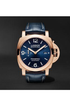 PANERAI Homem Relógios - Luminor Marina Sole Blu Automatic 44mm Goldtech and Alligator Watch, Ref. No. PAM01112