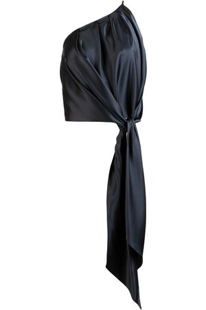 Michelle Mason Draped-detail one-shoulder top