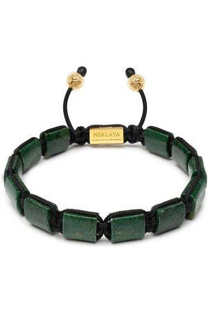 Nialaya Homem Pulseiras - Gemstone-embellished beaded bracelet