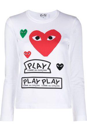 Comme des Garçons Long-sleeved multi-logo T-shirt