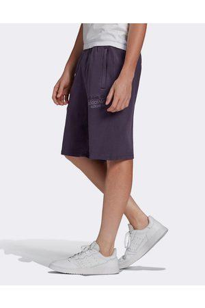 adidas Overdyed premium shorts in purple
