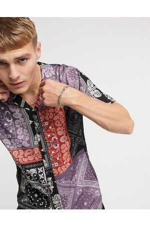 Criminal Damage Bandana print shirt-Multi