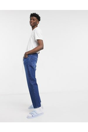 ASOS DESIGN Classic rigid jeans in vintage dark wash blue