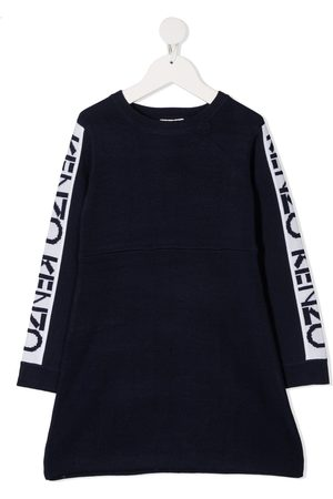 Kenzo Intarsia logo wool knit jumper