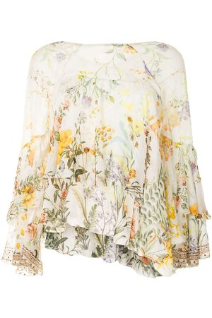 Camilla Flare layered blouse