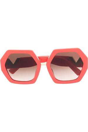 VALENTINO Senhora Óculos de Sol - VLOGO hexagonal oversized-frame sunglasses
