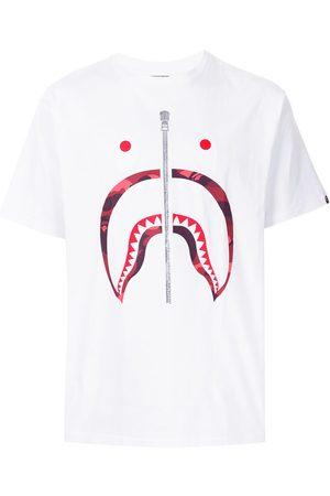 A BATHING APE® Homem T-shirts & Manga Curta - Camo Shark short sleeved T-shirt