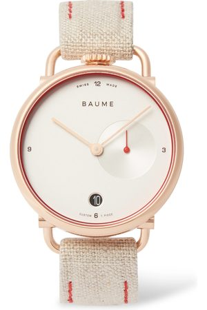 Baume & Mercier Homem Relógios - 35mm PVD-Coated Stainless Steel and Linen-Webbing Watch, Ref. No. 10602