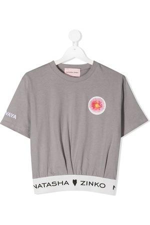 Natasha Zinko Menina T-shirts & Manga Curta - Delovaya cropped T-shirt