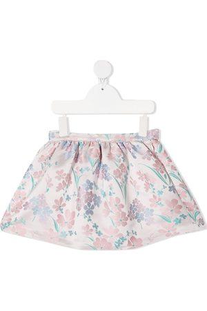 HUCKLEBONES LONDON Menina Saias Estampadas - Floral-jacquard mini skirt