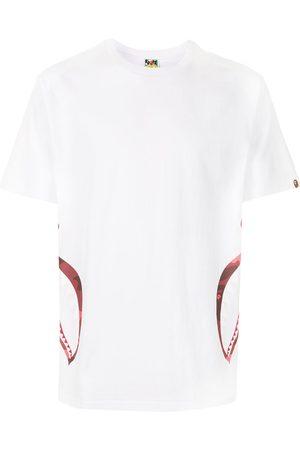 A BATHING APE® Homem T-shirts & Manga Curta - Graphic print short-sleeved T-shirt