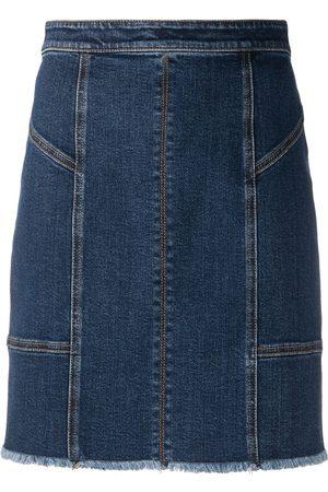 Alexander McQueen Panelled denim mini skirt
