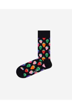 Happy Socks Strawberry Socks Black Colorful