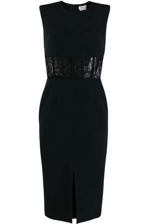 Alexander McQueen Lace-detail fitted dress