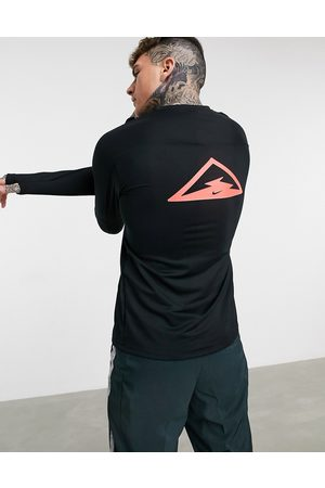 Nike Trail Element long sleeve top in black
