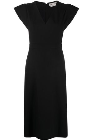 Alexander McQueen V-neck fitted dress