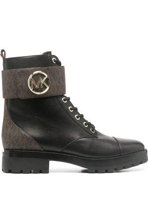 Michael Kors Senhora Botas - Logo-print combat boots