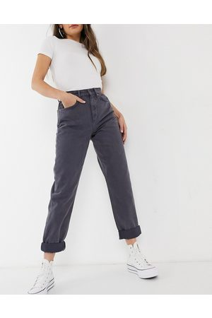 ASOS DESIGN High rise 'slouchy' mom jeans in steel-Purple