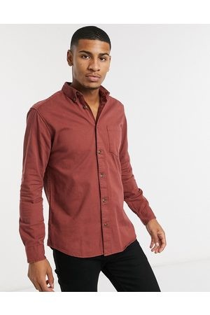 Only & Sons Overshirt with pocket in washed red
